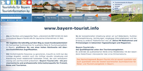 Flyer Bayern-Tourist.info